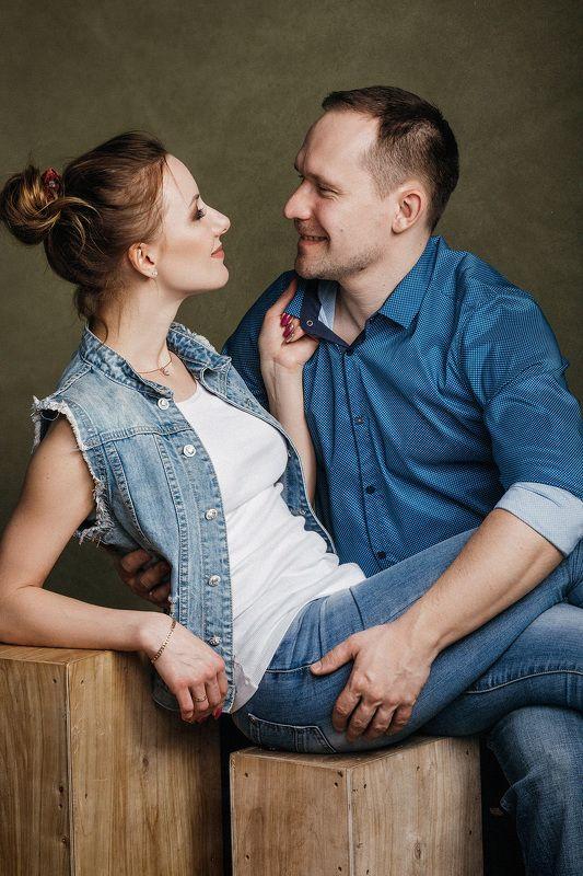 пара, студия, семья, любовь, love-story двоеphoto preview