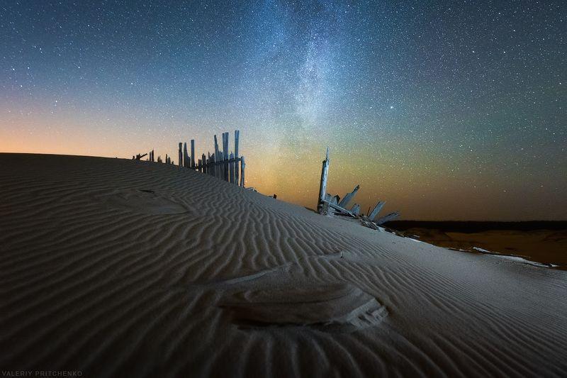 Звездная ночь в дюнах.photo preview