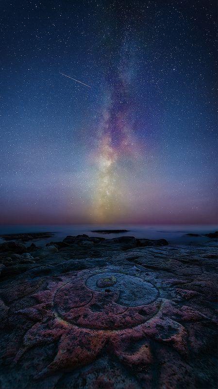 море, звезды, крым, ночь, севастополь, млечный путь \