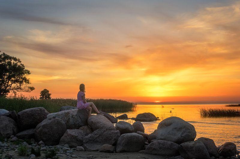 пейзаж, закат, финский, залив На закатеphoto preview