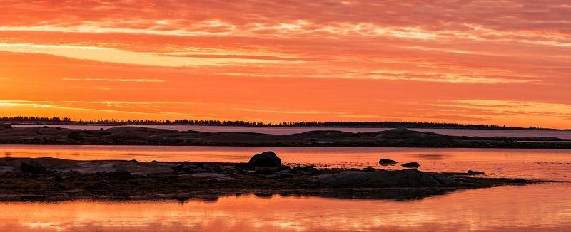карелия, белое, море, рассвет Апельсиновый мирphoto preview