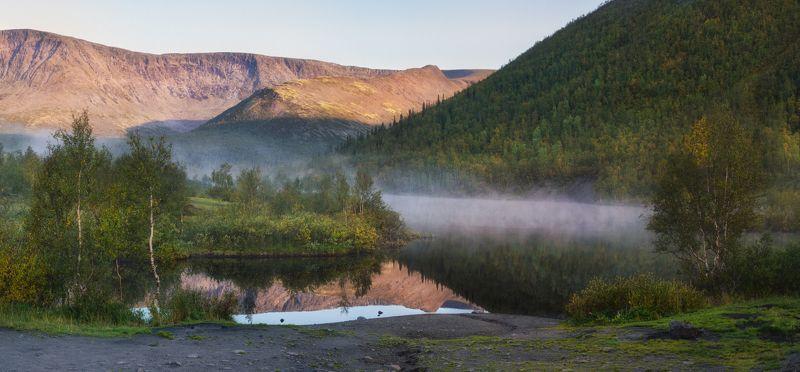 хибины, кировск, малый вудъявр, кольский Утро начинается...photo preview