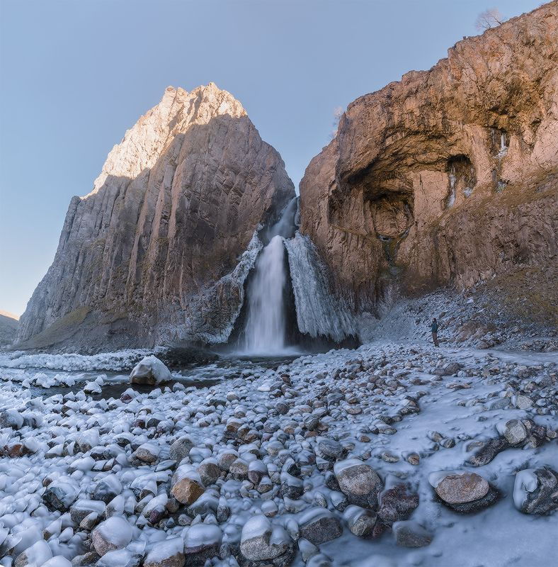 северный, кавказ, джилы-су, приэльбрусье, каракая-су, водопад Каракая-Су.photo preview