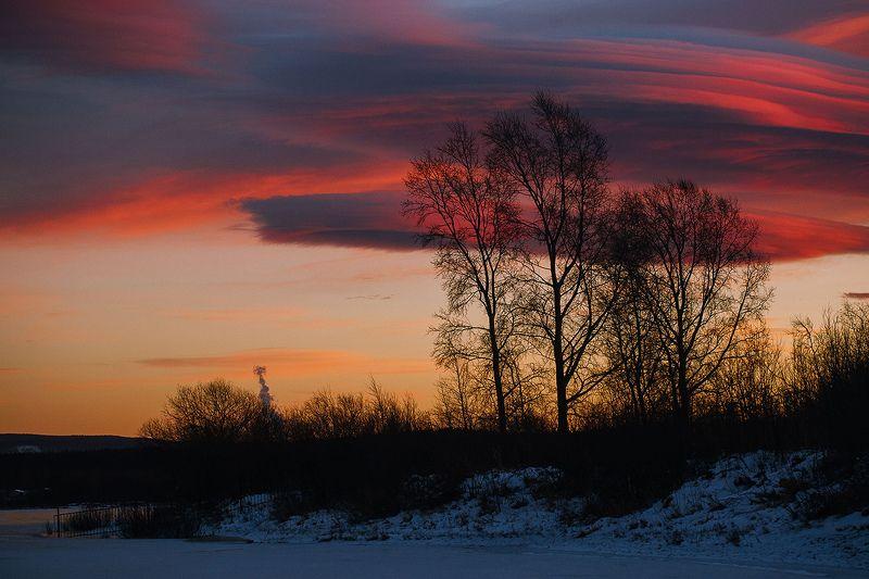 вечер, закат, небо, природа, россия, златоуст Небеса в огнеphoto preview
