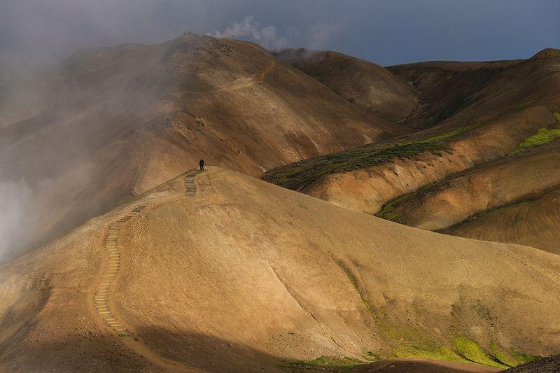 исландия, iceland Цветные горы Исландииphoto preview