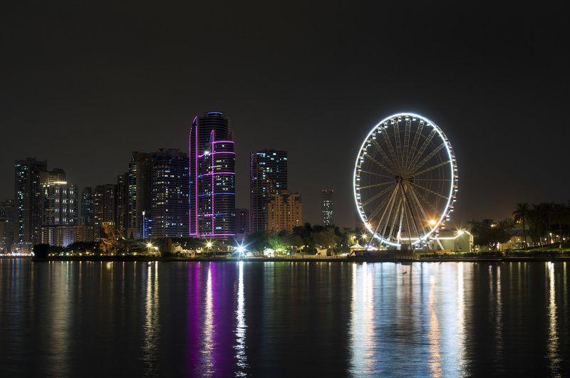 пейзаж ночь Ночные огниphoto preview