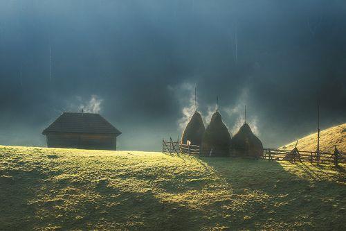 Утро в Румынии