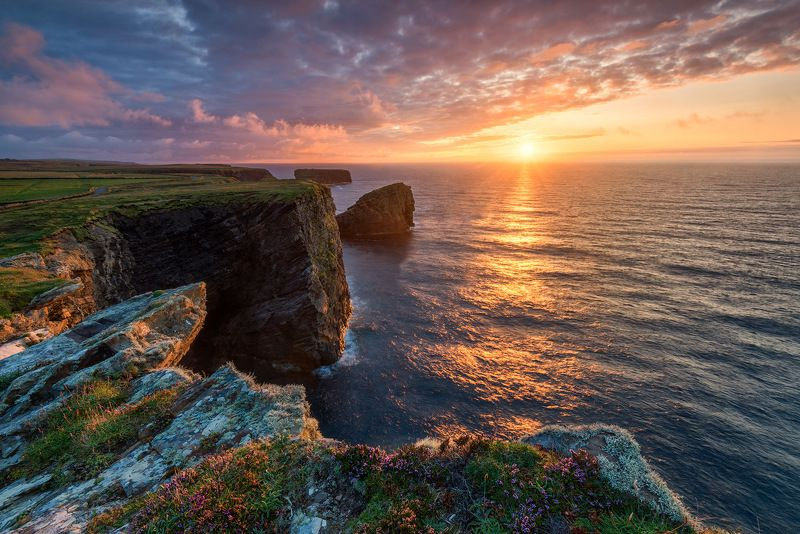 ireland, kilkee, clare, cliffs, sea, atlantic, ocean, sky, sunset Kilkee Cliffsphoto preview