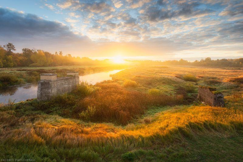 пейзаж, природа, утро, landscape, nature, morning, sunrise Утро у реки Лава.photo preview