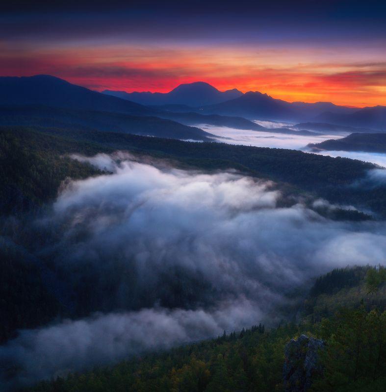 урал, горы, айгир, караташ, ямантау Предрассветный Ямантауphoto preview