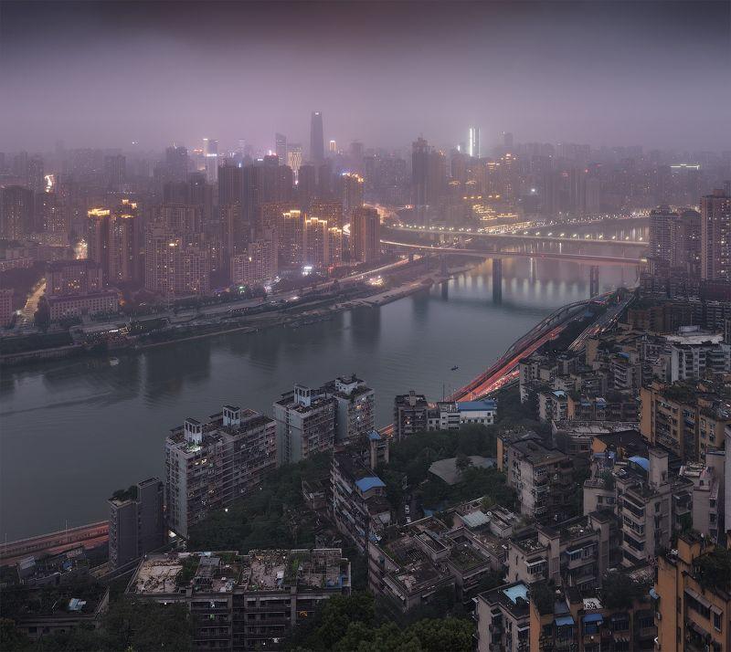 китай, china, chóngqìng Два берегаphoto preview