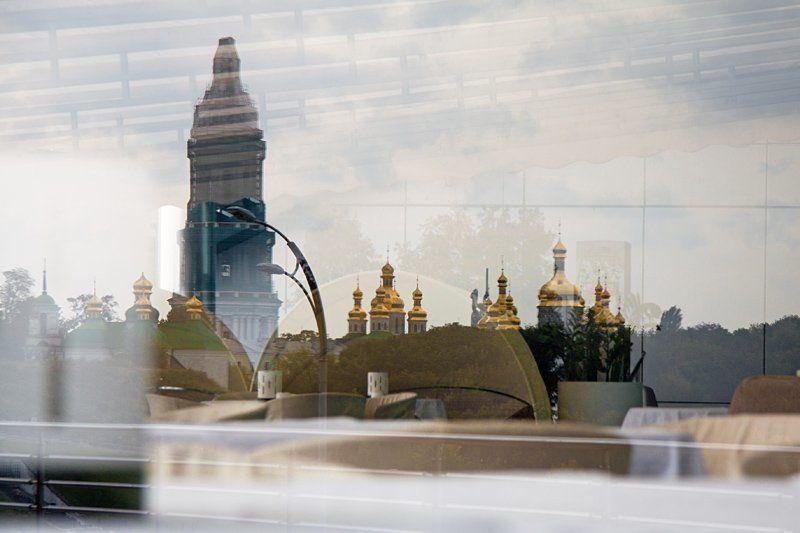 киев, отражение, лавра photo preview