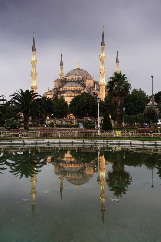 istambul, sunrise Sultan Ahmed Mosquephoto preview