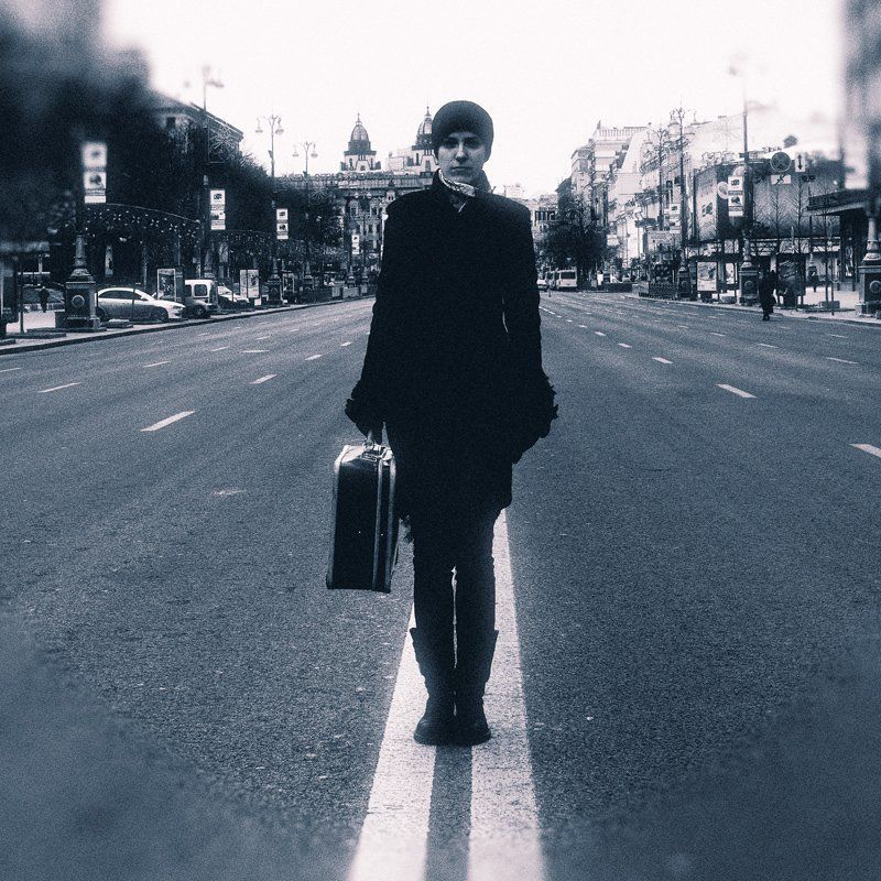 alone in the city...photo preview
