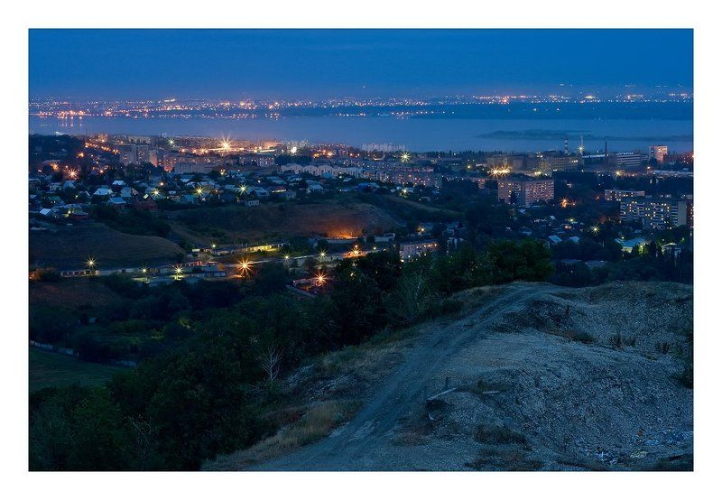 Огни ночного городаphoto preview