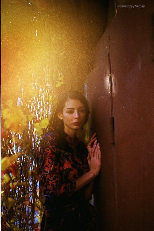 портрет, жанр, пленка, 35 мм, осень В цвете осениphoto preview