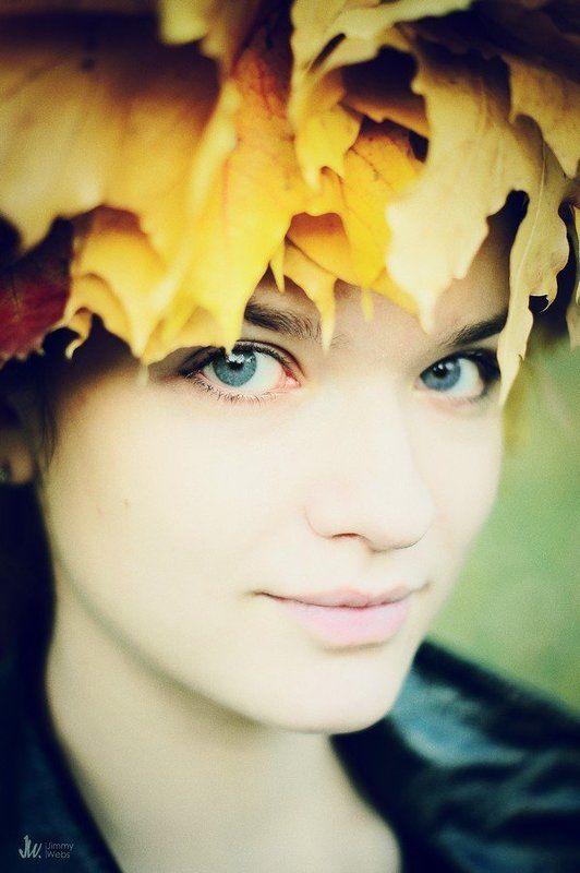 девушка, осень, глаза ***photo preview