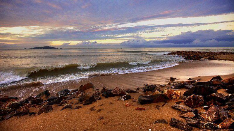 китай, море, восход, берег, волны, Шторм Offphoto preview