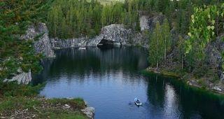 Мраморный каньон. Карелия