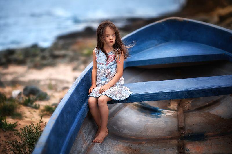 Девочка, море, лодка , портрет, Portrait Вераphoto preview