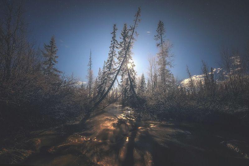 пейзаж, природа, кольский п-ов, луна ***photo preview