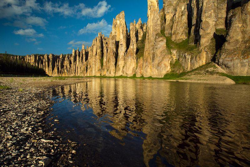 лето, горы, сплав, река, синяя, якутия, пейзаж, солнце, закат Золотые скалы р.Синяяphoto preview
