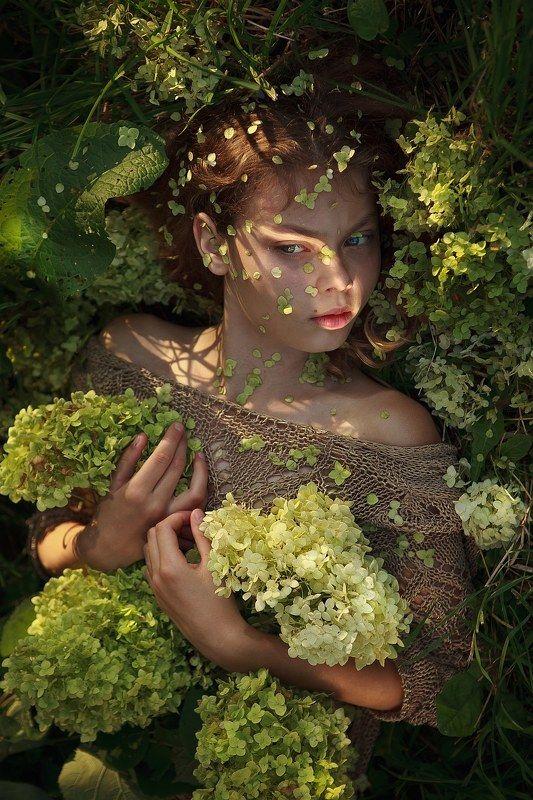 девушка, свет, блики, маска Pristinephoto preview