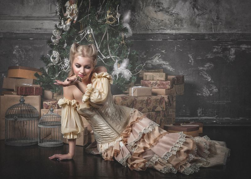 фото в образе, тематическое фото, женщина-кошка, новогоднее фото Кошки-мышкиphoto preview