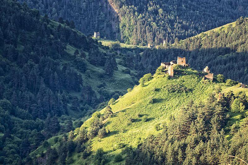кавказ,горы,заповедник,башни. Башенные комплексы.photo preview