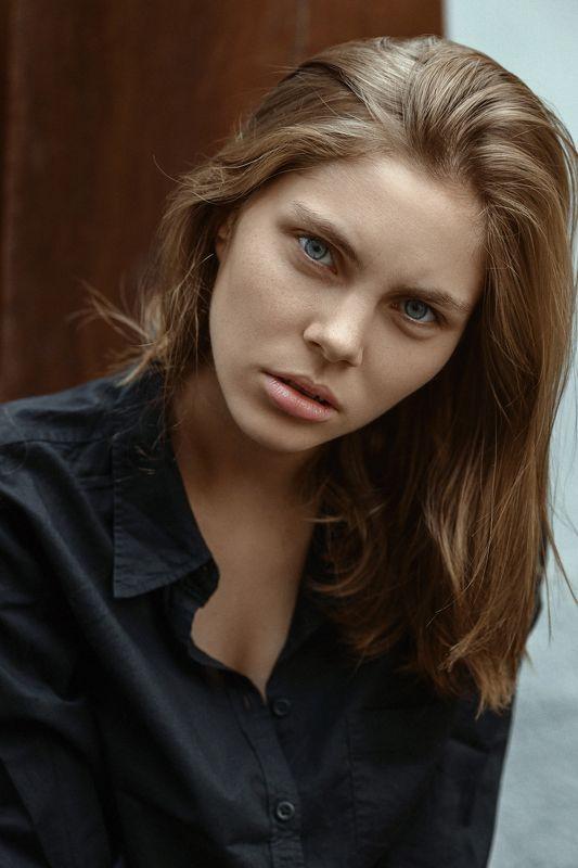 photo, portrait, color, eyes, girl, model Anastasiaphoto preview