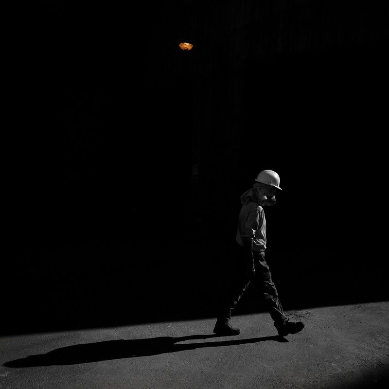 street, shadow, fade walking in darkphoto preview