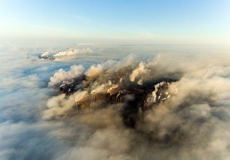мариуполь, туман, трубы, завод, экология, загрязнение, металлургия Мариупольphoto preview