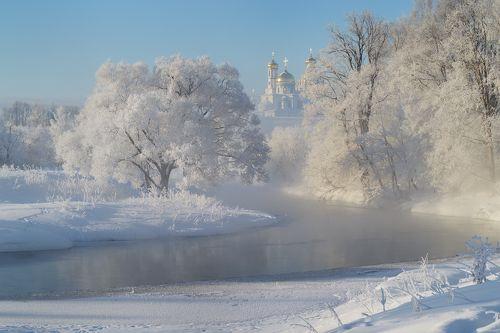 Белое утро зимы.