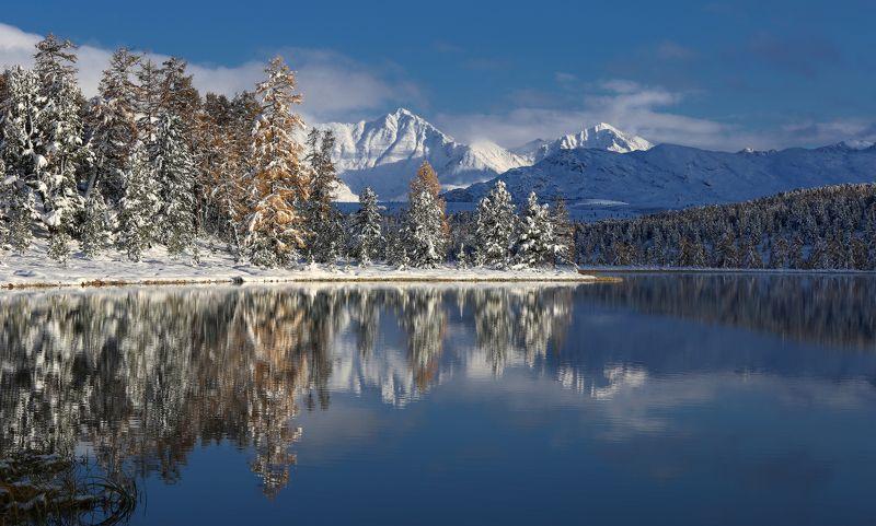 алтай, горный алтай, алтай, северо-чуйский хребет, улаганский перевал, озеро кидэлю, кидэлю, горы, природа, пейзаж Зазеркальеphoto preview