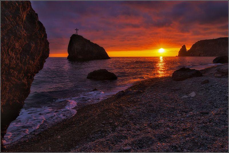 крым, севастополь, яшмовый пляж, вечер Вечер на берегу моряphoto preview