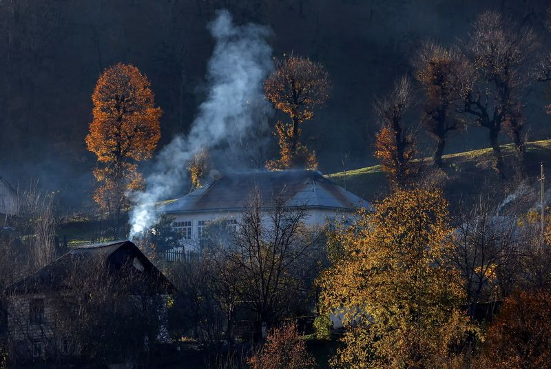 азербайджан ленкорань село осень пейзаж природа Осень в Ленкоранском районе Азербайджан.photo preview