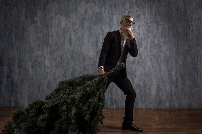fir-tree, Santa Claus, fashion Santa Clausphoto preview