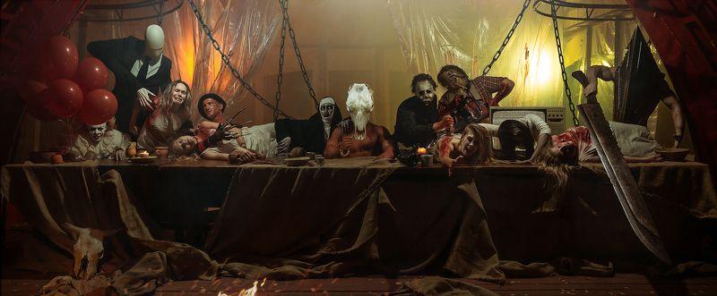 хэллоуин ужас тьма мистика постановка грим монстры пугает страшно 13photo preview
