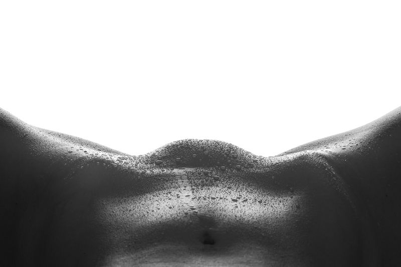 black and white, bodyscape, bodylines, nude, nsfw, butt, ass, butcheeks Wetphoto preview