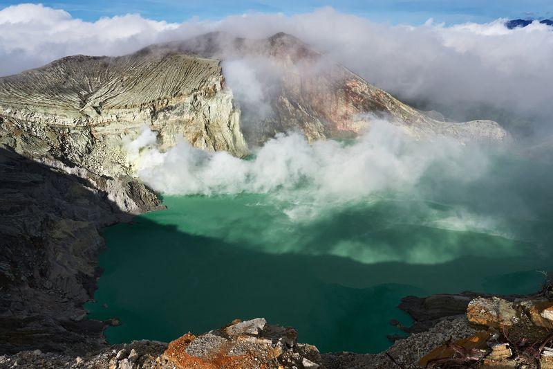 вулкан, иджен, ява, индонезия, кислотное озеро, кава иджен, вулкан кава иджен, ява иджен, kawah ijen volcano Ijen (part 2)photo preview