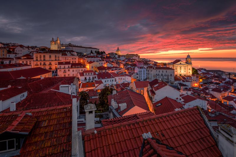 Europe, Portugal, Lisbon, Hugo, Só, HugoSó, Nikon, D810, Sunrise, PortasdoSol, Viewpoint, Old, City From Lisbon With Lovephoto preview
