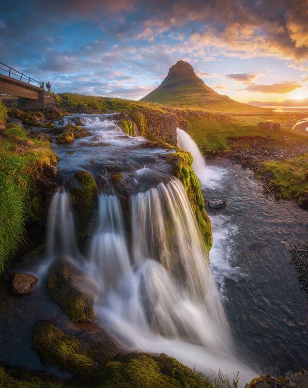 исландия, киркьюфетль, рассвет, утро Рассвет у горы Киркьюфетльphoto preview