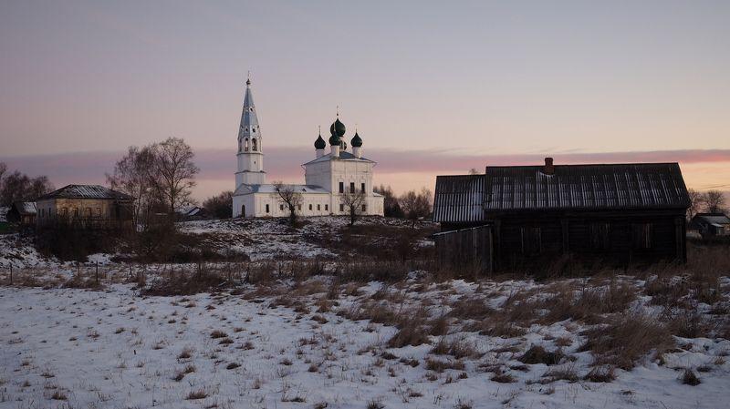 Село Осенево, день первый зимы.photo preview