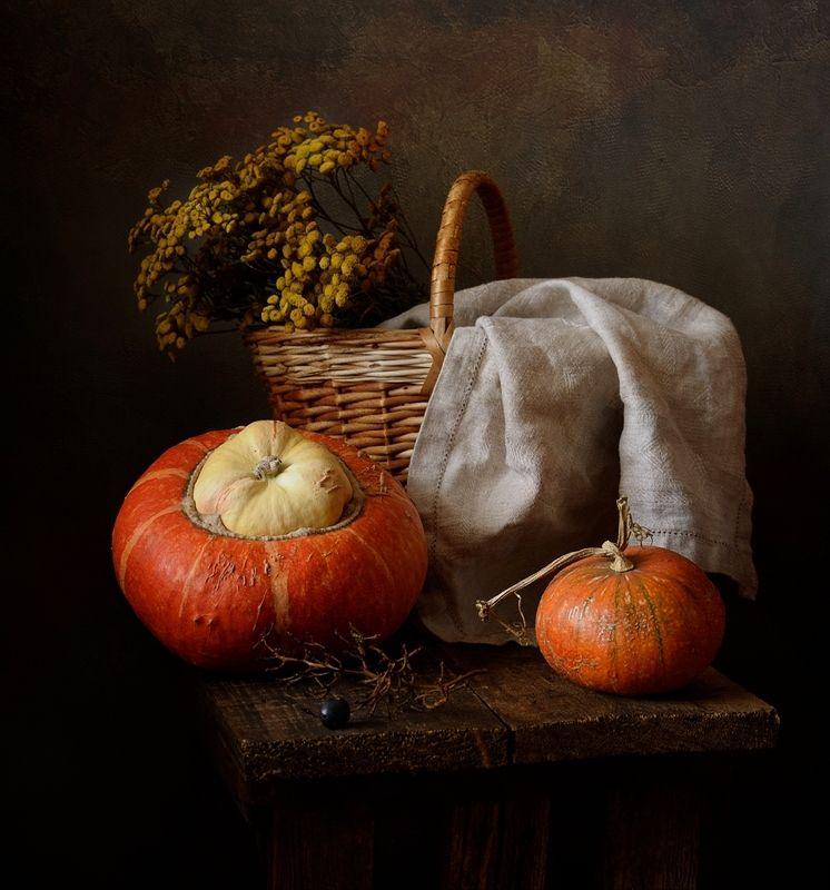 натюрморт,осень,пижма,тыква осень...photo preview