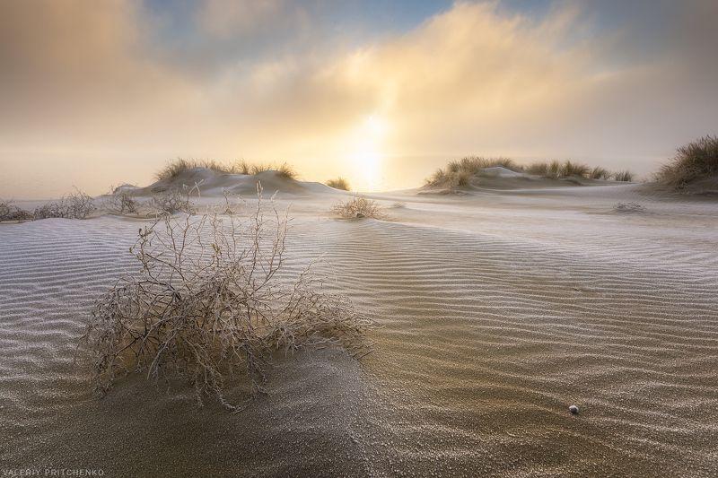 landscape, nature, sunrise, пейзаж, природа Туман отступает.photo preview