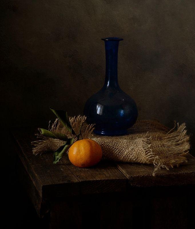 натюрморт,мандаринка,графин мандаринка ))photo preview