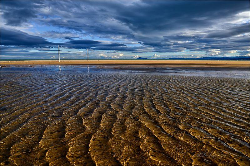 горы, закат, зима, облака, небо,пейзаж, пляж Волныphoto preview