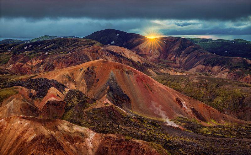 исландия, iceland, горы, landmannalaugar Риолитовые горы Исландии. фото превью