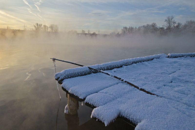 утро, рассвет, зима, озеро, горячка Декабрь на Горячкеphoto preview