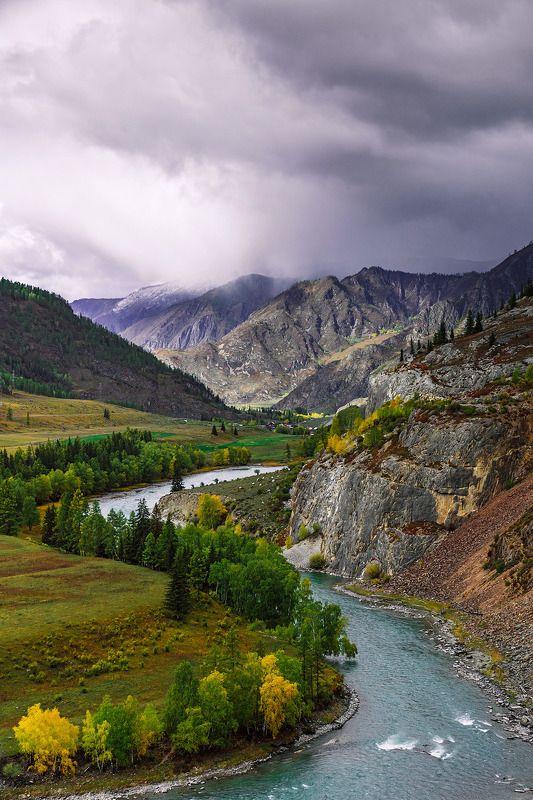 пейзаж, горы, осень, река, Катунь, Горный Алтай Красавица Катунь. photo preview